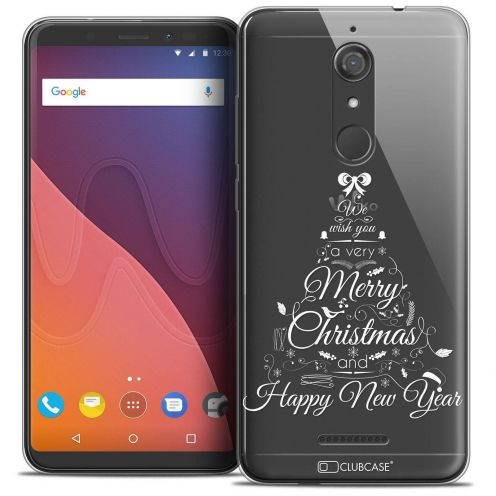 "Coque Crystal Gel Wiko View (5.7"") Extra Fine Noël 2017 - Calligraphie"