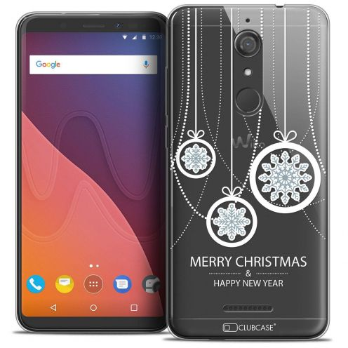 "Coque Crystal Gel Wiko View (5.7"") Extra Fine Noël 2017 - Christmas Balls"