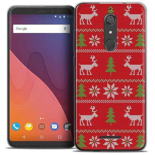 "Coque Crystal Gel Wiko View (5.7"") Extra Fine Noël 2017 - Couture Rouge"