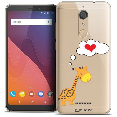 """Coque Crystal Gel Wiko View (5.7"""") Extra Fine Love - Girafe Amoureuse"""