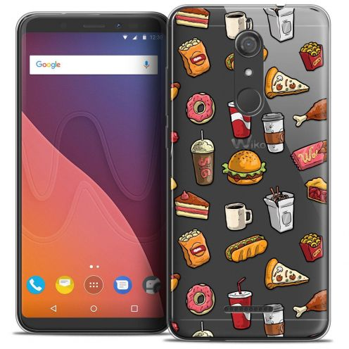 "Coque Crystal Gel Wiko View (5.7"") Extra Fine Foodie - Fast Food"