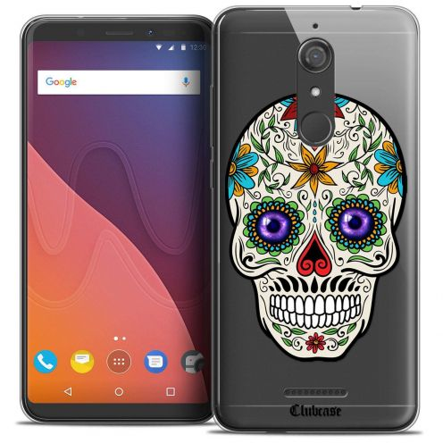 """Coque Crystal Gel Wiko View (5.7"""") Extra Fine Skull - Maria's Flower"""