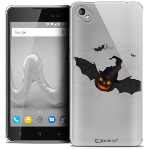 "Coque Crystal Gel Wiko Sunny 2 PLUS (5"") Extra Fine Halloween - Chauve Citrouille"