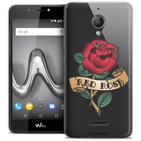 "Coque Crystal Gel Wiko Tommy 2 PLUS (5.5"") Extra Fine Tatoo Lover - Red Rose"