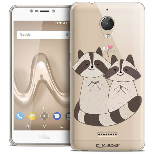"""Coque Crystal Gel Wiko Tommy 2 PLUS (5.5"""") Extra Fine Sweetie - Racoon Love"""