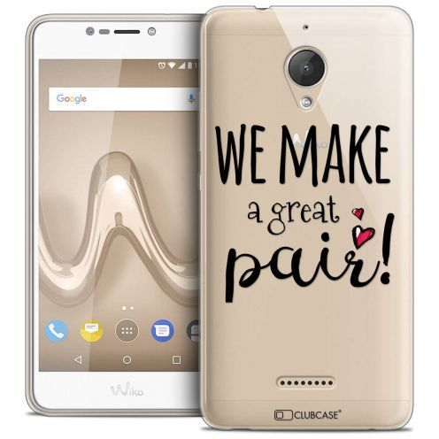 "Coque Crystal Gel Wiko Tommy 2 PLUS (5.5"") Extra Fine Love - We Make Great Pair"