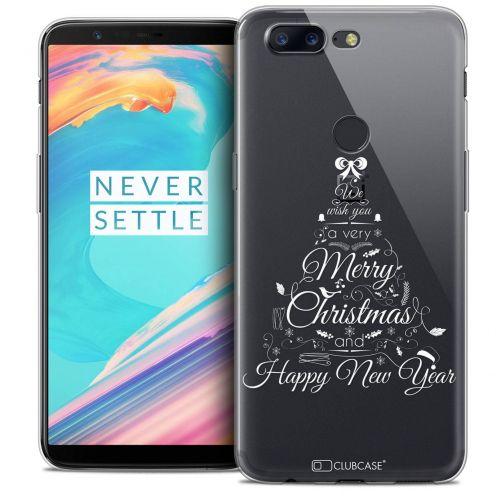 "Coque Crystal Gel OnePlus 5T (6"") Extra Fine Noël 2017 - Calligraphie"