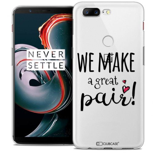 "Coque Crystal Gel OnePlus 5T (6"") Extra Fine Love - We Make Great Pair"