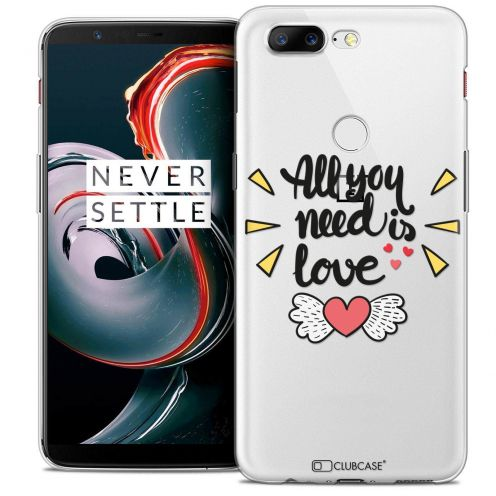 """Coque Crystal Gel OnePlus 5T (6"""") Extra Fine Love - All U Need Is"""