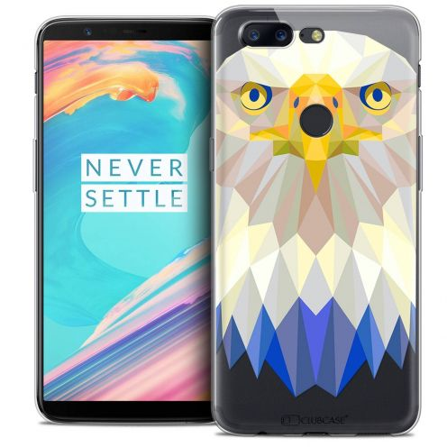 "Coque Crystal Gel OnePlus 5T (6"") Extra Fine Polygon Animals - Aigle"