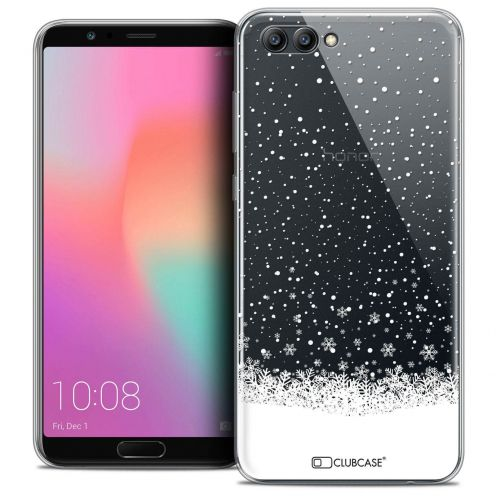 "Coque Crystal Gel Honor View 10 / V10 (6"") Extra Fine Noël 2017 - Flocons de Neige"