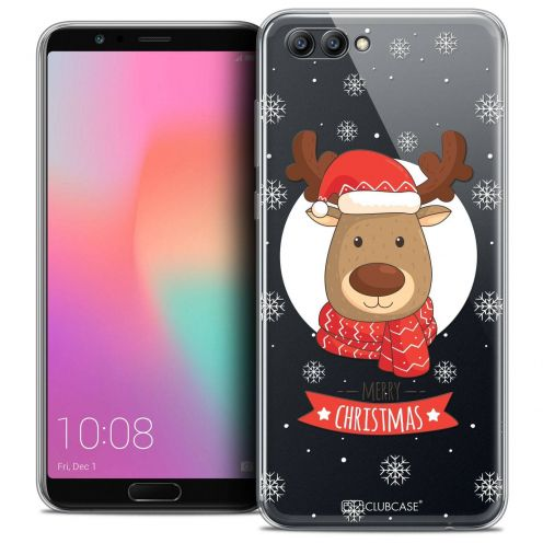 "Coque Crystal Gel Honor View 10 / V10 (6"") Extra Fine Noël 2017 - Cerf à Echarpe"