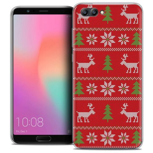 "Coque Crystal Gel Honor View 10 / V10 (6"") Extra Fine Noël 2017 - Couture Rouge"