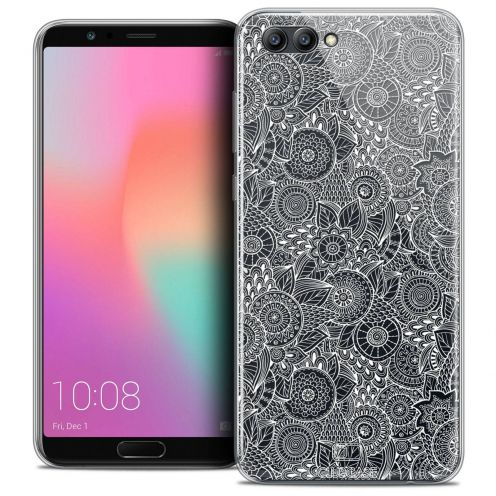 "Coque Crystal Gel Honor View 10 / V10 (6"") Extra Fine Dentelle Florale - Blanc"