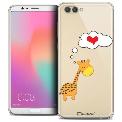 "Coque Crystal Gel Honor View 10 / V10 (6"") Extra Fine Love - Girafe Amoureuse"