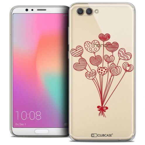 "Coque Crystal Gel Honor View 10 / V10 (6"") Extra Fine Love - Ballons d'amour"