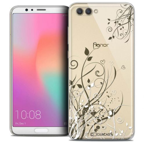 "Coque Crystal Gel Honor View 10 / V10 (6"") Extra Fine Love - Hearts Flowers"