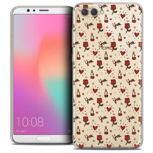 "Coque Crystal Gel Honor View 10 / V10 (6"") Extra Fine Love - Bougies et Roses"