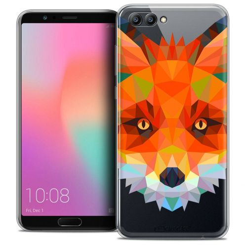 "Coque Crystal Gel Honor View 10 / V10 (6"") Extra Fine Polygon Animals - Renard"