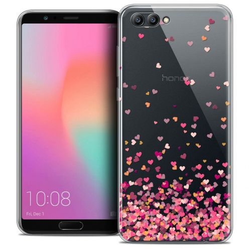 "Coque Crystal Gel Honor View 10 / V10 (6"") Extra Fine Sweetie - Heart Flakes"