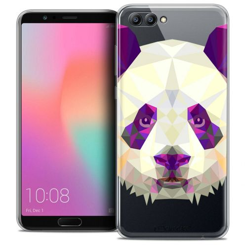 "Coque Crystal Gel Honor View 10 / V10 (6"") Extra Fine Polygon Animals - Panda"