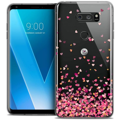 """Coque Crystal Gel LG V30 (6"""") Extra Fine Sweetie - Heart Flakes"""