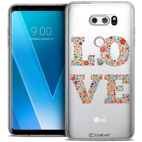 "Coque Crystal Gel LG V30 (6"") Extra Fine Summer - Love Flowers"