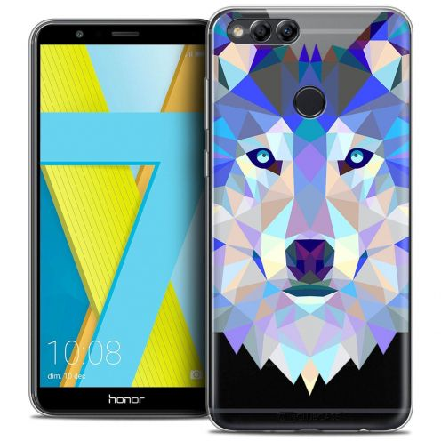 "Coque Crystal Gel Honor 7X (5.9"") Extra Fine Polygon Animals - Loup"