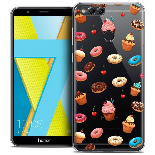 "Coque Crystal Gel Honor 7X (5.9"") Extra Fine Foodie - Donuts"