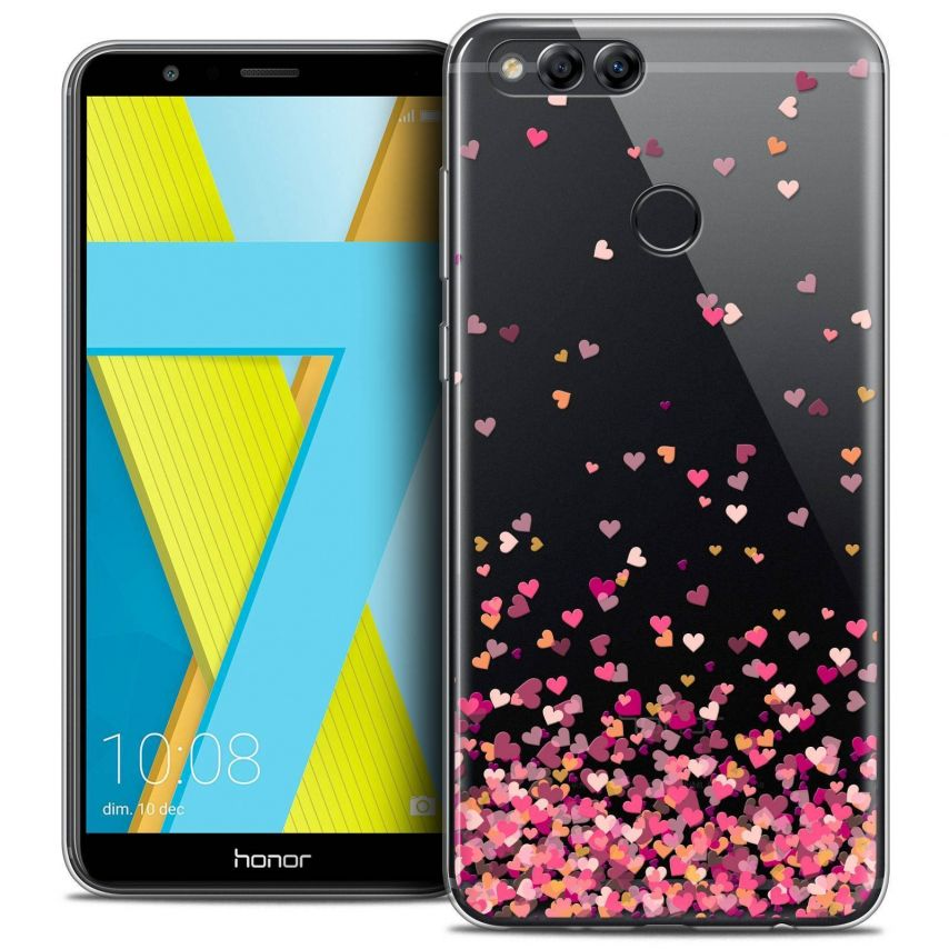 """Coque Crystal Gel Honor 7X (5.9"""") Extra Fine Sweetie - Heart Flakes"""
