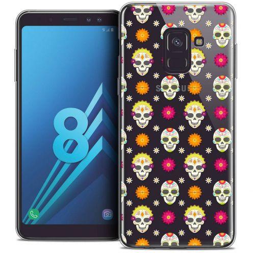 "Coque Crystal Gel Samsung Galaxy A8 (2018) A530 (5.6"") Extra Fine Halloween - Skull Halloween"
