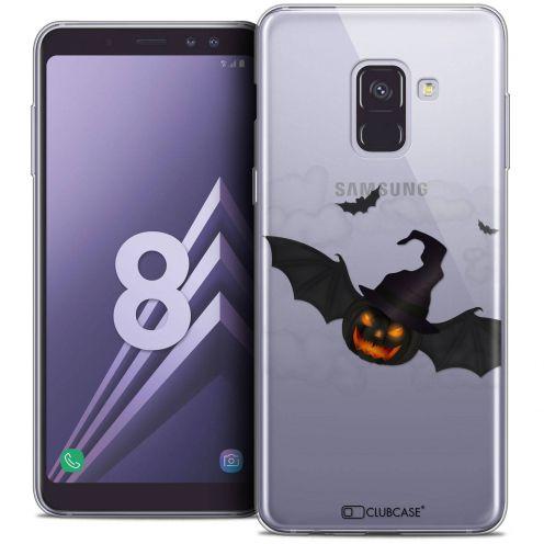 "Coque Crystal Gel Samsung Galaxy A8 (2018) A530 (5.6"") Extra Fine Halloween - Chauve Citrouille"