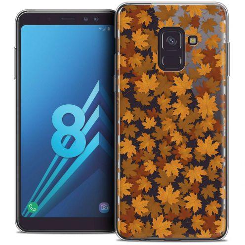 "Coque Crystal Gel Samsung Galaxy A8 (2018) A530 (5.6"") Extra Fine Autumn 16 - Feuilles"