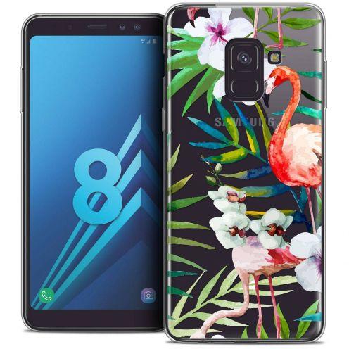 """Coque Crystal Gel Samsung Galaxy A8 (2018) A530 (5.6"""") Extra Fine Watercolor - Tropical Flamingo"""