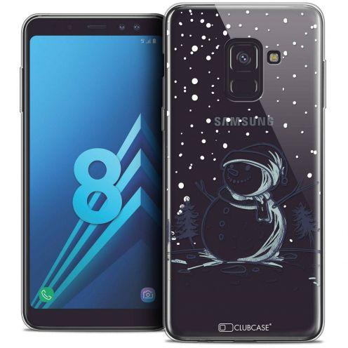 """Coque Crystal Gel Samsung Galaxy A8 (2018) A530 (5.6"""") Extra Fine Noël 2017 - Bonhomme de Neige"""