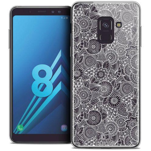 """Coque Crystal Gel Samsung Galaxy A8 (2018) A530 (5.6"""") Extra Fine Dentelle Florale - Blanc"""