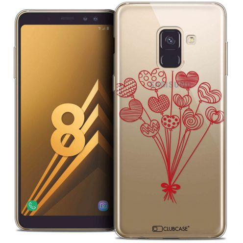 """Coque Crystal Gel Samsung Galaxy A8 (2018) A530 (5.6"""") Extra Fine Love - Ballons d'amour"""