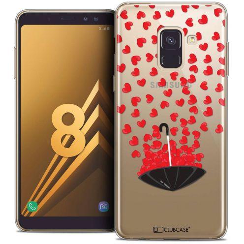 "Coque Crystal Gel Samsung Galaxy A8 (2018) A530 (5.6"") Extra Fine Love - Parapluie d'Amour"