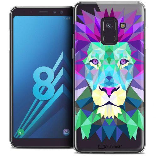 """Coque Crystal Gel Samsung Galaxy A8 (2018) A530 (5.6"""") Extra Fine Polygon Animals - Lion"""