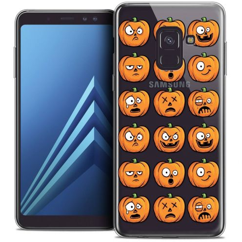 "Coque Crystal Gel Samsung Galaxy A8+ (2018) A730 (6.0"") Extra Fine Halloween - Cartoon Citrouille"