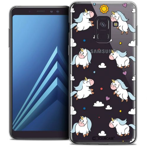 "Coque Crystal Gel Samsung Galaxy A8+ (2018) A730 (6.0"") Extra Fine Fantasia - Licorne In the Sky"