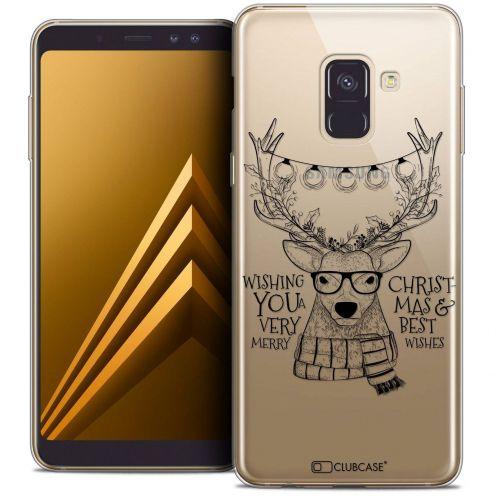 "Coque Crystal Gel Samsung Galaxy A8+ (2018) A730 (6.0"") Extra Fine Noël 2017 - Cerf Hipster"