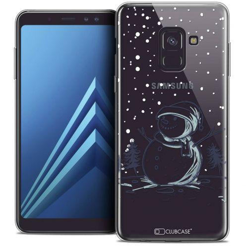 "Carcasa Crystal Gel Extra Fina Samsung Galaxy A8+ (2018) A730 (6.0"") Noël 2017 Bonhomme de Neige"