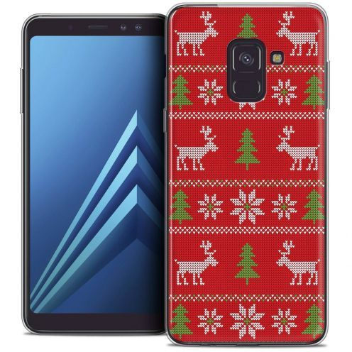 "Coque Crystal Gel Samsung Galaxy A8+ (2018) A730 (6.0"") Extra Fine Noël 2017 - Couture Rouge"