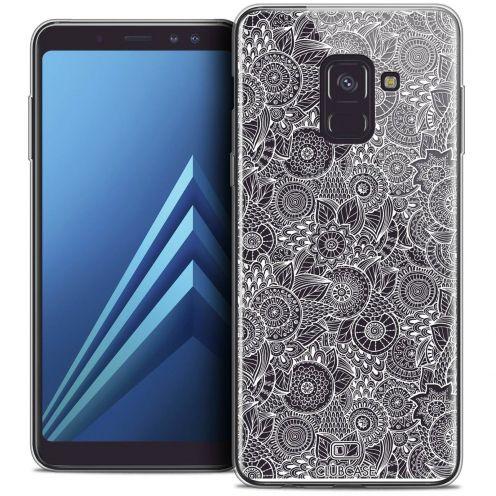 """Coque Crystal Gel Samsung Galaxy A8+ (2018) A730 (6.0"""") Extra Fine Dentelle Florale - Blanc"""