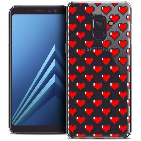 "Coque Crystal Gel Samsung Galaxy A8+ (2018) A730 (6.0"") Extra Fine Love - Pixel Art"