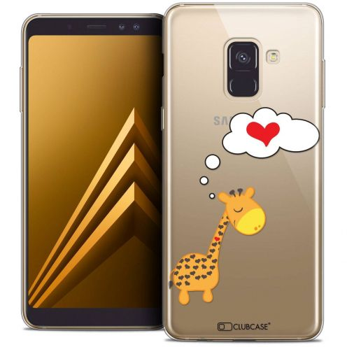 "Coque Crystal Gel Samsung Galaxy A8+ (2018) A730 (6.0"") Extra Fine Love - Girafe Amoureuse"