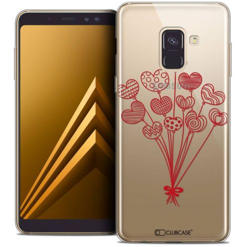 """Coque Crystal Gel Samsung Galaxy A8+ (2018) A730 (6.0"""") Extra Fine Love - Ballons d'amour"""