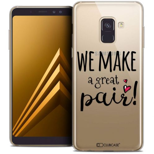 "Coque Crystal Gel Samsung Galaxy A8+ (2018) A730 (6.0"") Extra Fine Love - We Make Great Pair"