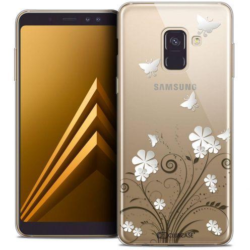 "Coque Crystal Gel Samsung Galaxy A8+ (2018) A730 (6.0"") Extra Fine Summer - Papillons"
